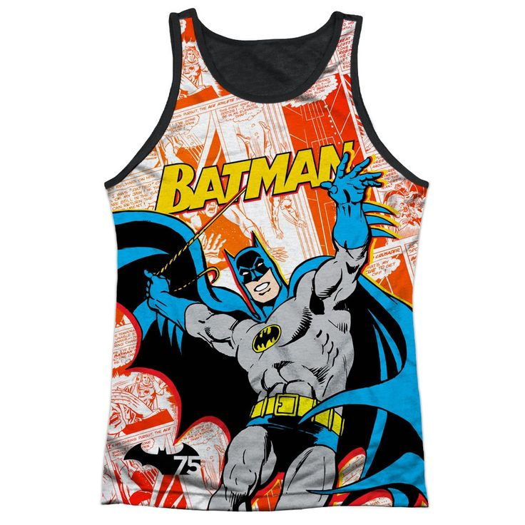 "Checkout our #LicensedGear products FREE SHIPPING + 10% OFF Coupon Code ""Official"" Batman/75 Panels-adult Poly Tank Top T- Shirt - Batman/75 Panels-adult Poly Tank Top T- Shirt - Price: $24.99. Buy now at https://officiallylicensedgear.com/batman-75-panels-adult-poly-tank-top-shirt-licensed"