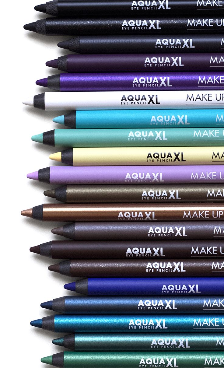 Make Up For Ever Aqua XL Eye Pencils - Review and swatches