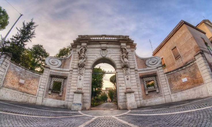 The Twilight Gate. HDR Photography Villa Celimontana Roma