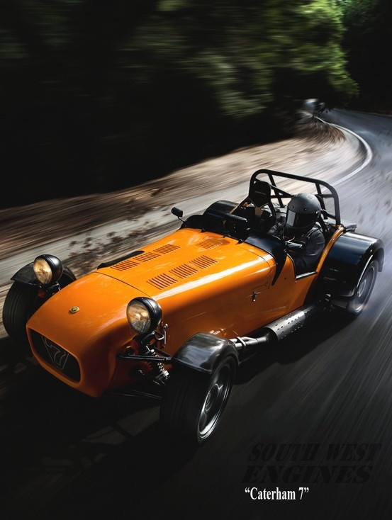 #SouthwestEngines caterham 7.Today's Caterham cars have a blend of traditional styling and modern components
