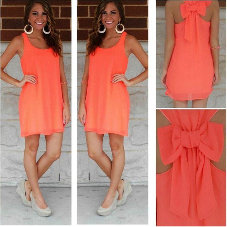 Summer dress 2016 women dress female summer style bow vestido de festa sundress plus size women clothing beach dress chiffon