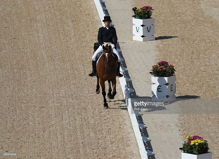 Sam Griffiths of Australia riding Paulank Brockagh competes in the Individual Dressage event on Day 1 of the Rio 2016 Olympic Games at the Olympic Equestrian Centre on August 6, 2016 in Rio de Janeiro, Brazil.