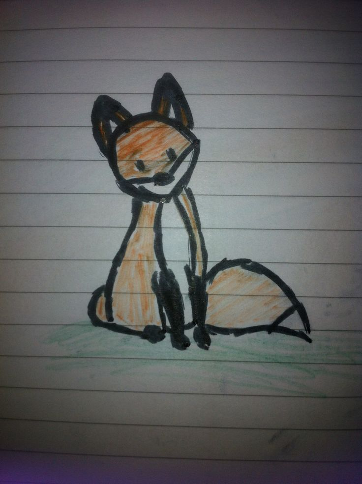 Little fox drawn by me