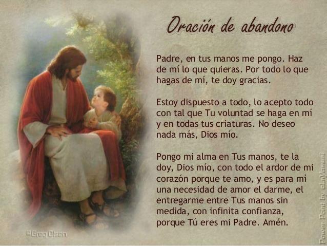Oración de abandono