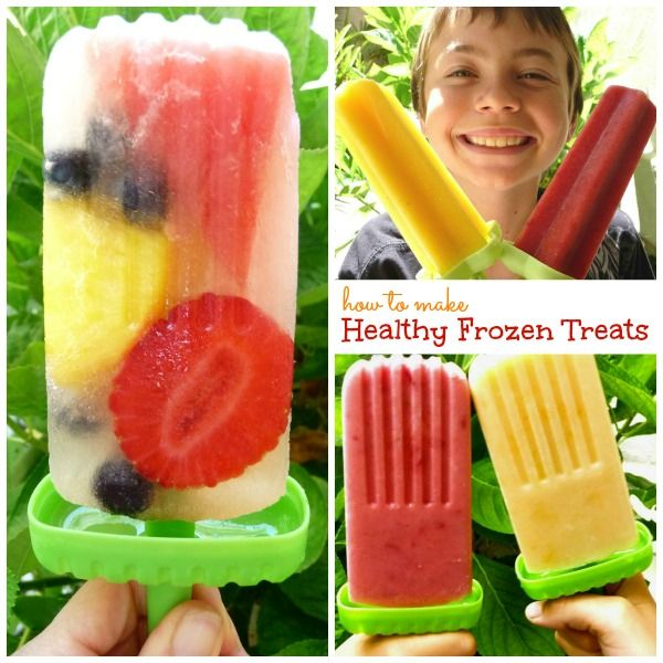 Tips to make healthy frozen pops