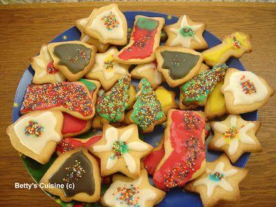 Betty's Cuisine: Χριστουγεννιάτικα μπισκότα βουτύρου