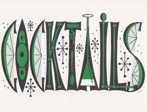 1950s cocktail party - cute font!
