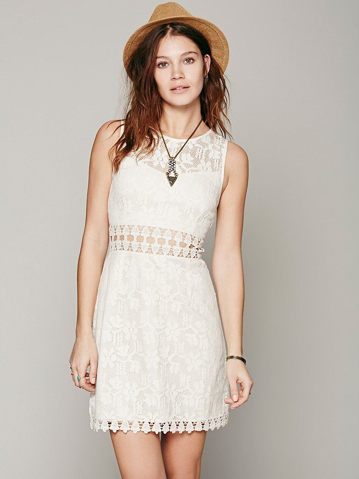 Free People Lace Cutout Shift 1540 99 Casual Wedding Dressesbridesmaid Dressesboho