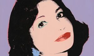 Andy Warhol's portrait of Princess Ashraf Pahlavi.