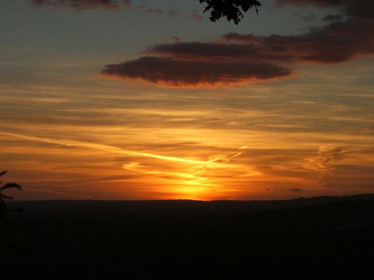 Sunset over Devon