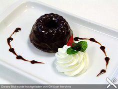 "Mohr im Hemd"" with Schokosauce - Chocolate cake with chocolate sauce"