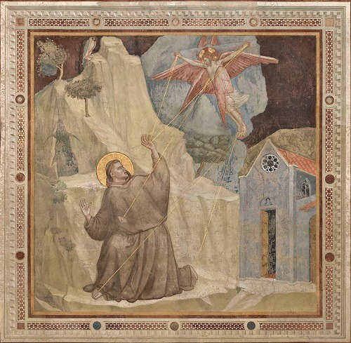 Finally you can see Giotto's paintings without scaffoldings in Santa Croce - Florence