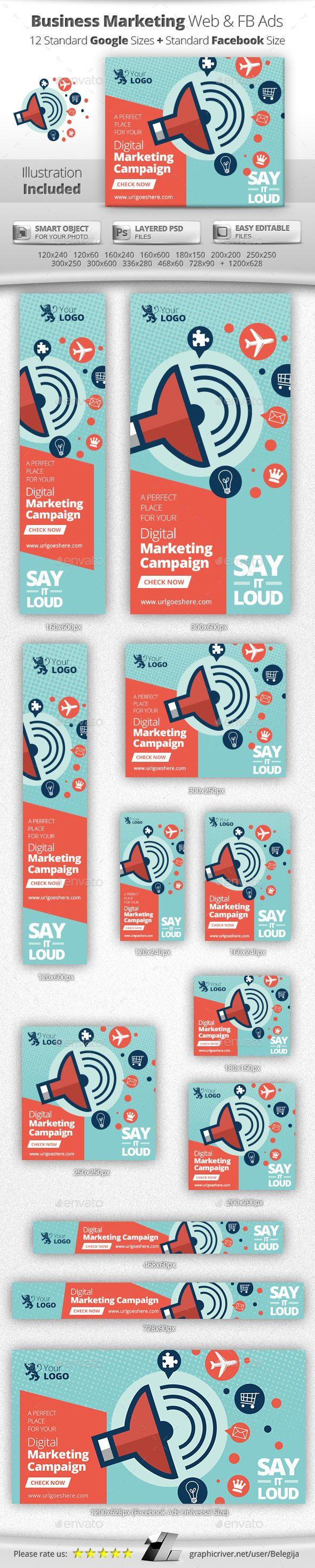 Business Online Marketing Web & Facebook Banners