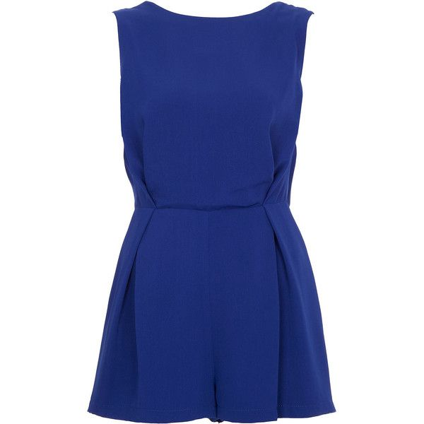 TOPSHOP Petite Lace Back Playsuit (2.710 UYU) ❤ liked on Polyvore featuring jumpsuits, rompers, dresses, playsuit, jumpsuit, topshop, cobalt, petite, playsuit romper and playsuit jumpsuit