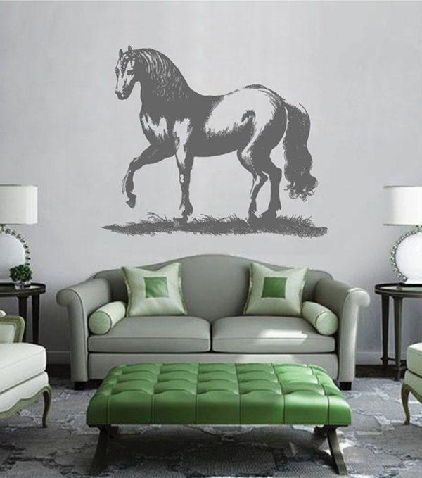kik2441 Wall Decal Sticker beautiful noble steed horse animal living room bedroom
