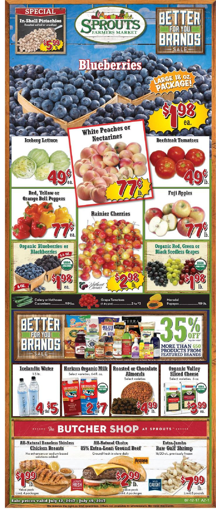 Sprouts Weekly ad July 12 – 20, 2017 – Do you know what's in and what's hot in the sprouts for this week? If you haven't, using the store's weekly advertisements will be your great guide. Here are Sprouts ad this week 7/12/2017 – 7/20/2017: