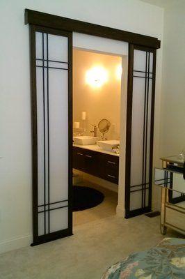 shoji door | Bathroom entry sliding shoji doors. | Yelp
