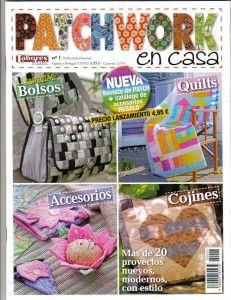 Revista muy útil de Patchwork, encontraras muchos proyectos nuevos, modernos y con estilo, entre ellos cojines Patchwork, Bolsos en Patchwork, accesorios para el hogar en Patchwork y mucho mas.