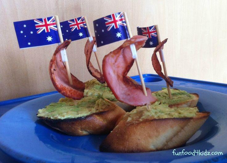 Fun food ideas for Australia Day - bacon boats