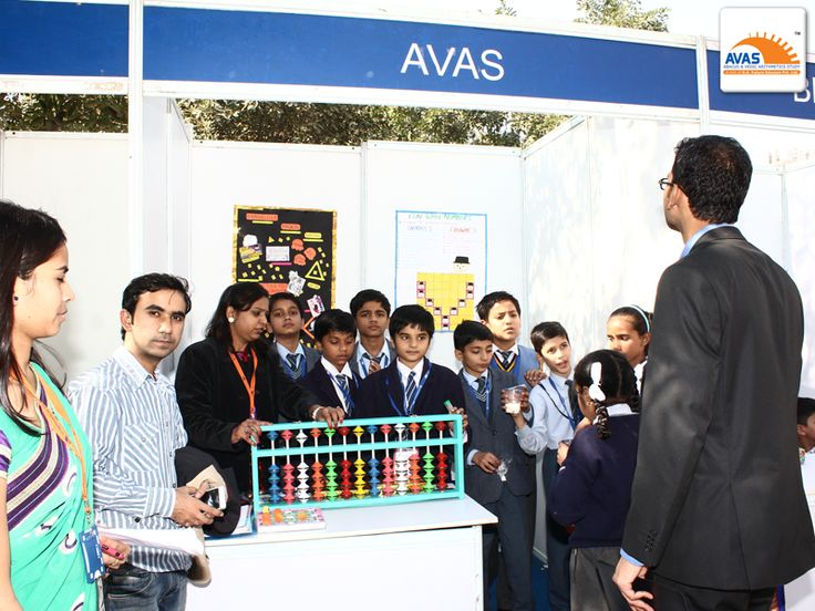 Students from different schools across Delhi, giving demo of ABACUS to JUDGES at National Math Expo, held at IIT, Delhi, organized by AVAS- avasindia