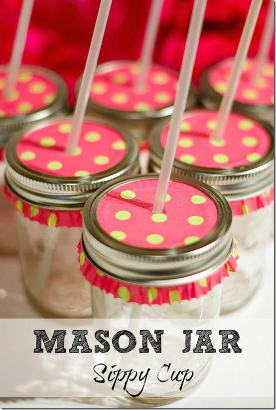 Mason Jar Drink Sippy Cup