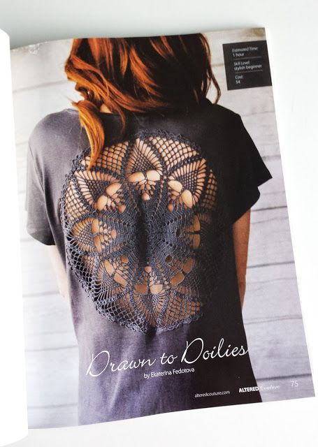 Altered Couture feature my article - Drawn to doilies (DIY)