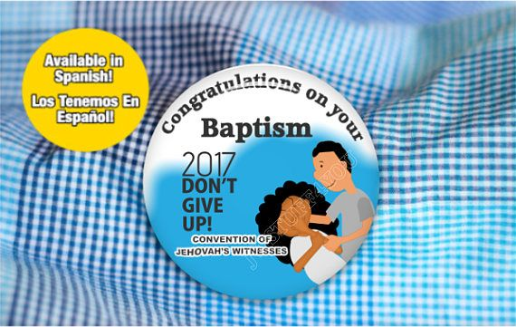 Congratulation Baptism,JWOrg Round pin back button pinback,buttons for jehovah witnesses,jw service,jw sisters, jw.org,jw gifts - 275c
