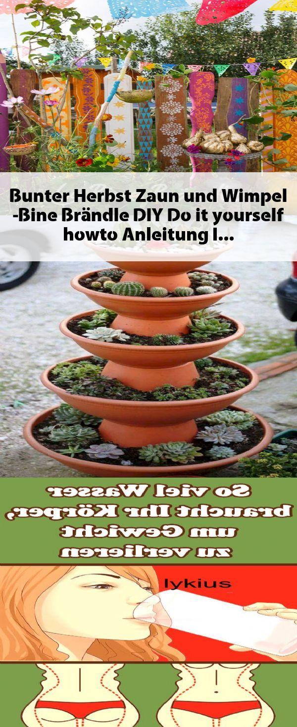 Bunter Herbst Zaun und Wimpel -Bine Brändle, DIY, Do it yourself, howto, Anleit…