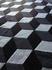 Free pattern. Blanket. Optical illusion. Ravelry: diamond blanket pattern by Jellina Verhoeff