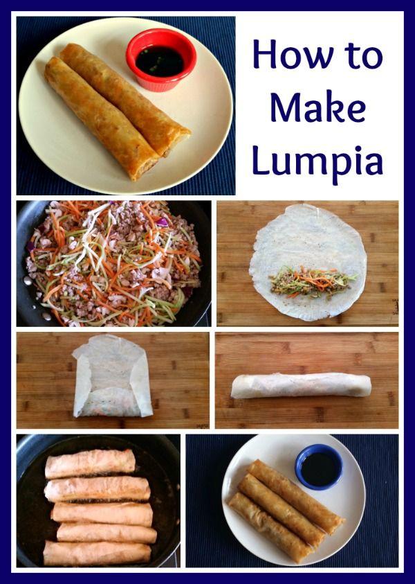 How to Make Lumpia (Filipino Egg Rolls)  Recipe Lumpia  -via @wondermomwannab