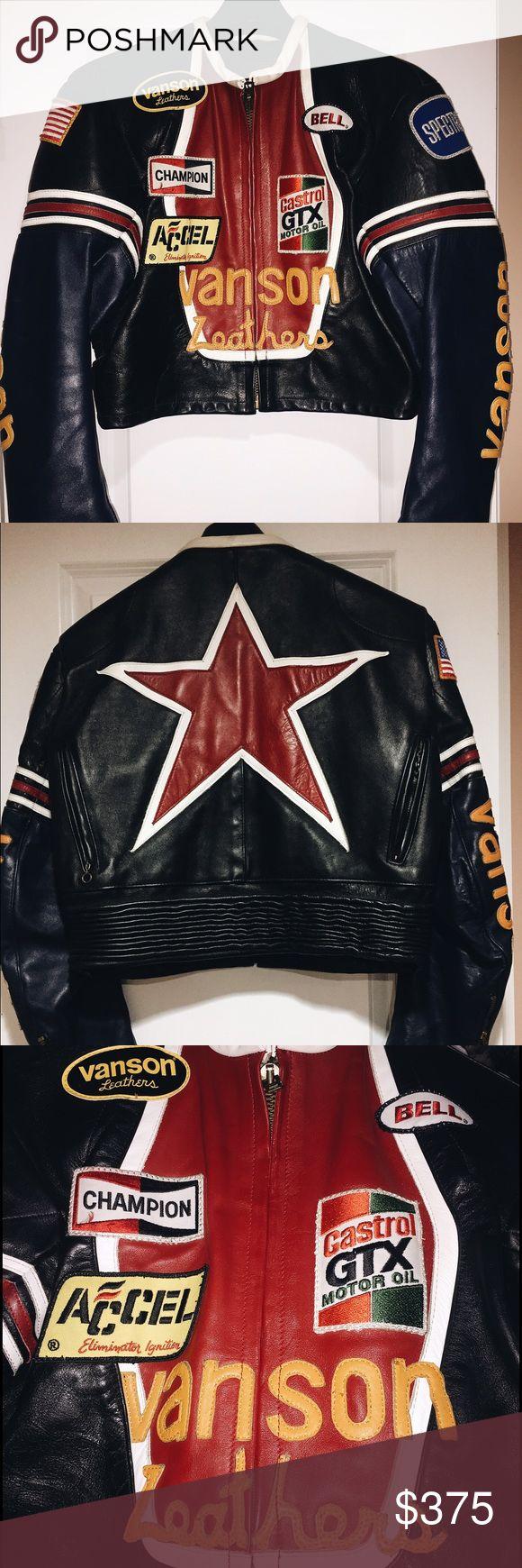 Vanson leather motorcycle gloves - Vanson Leather Jacket