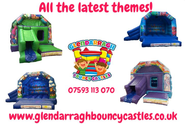 With all the latest themes available, make it Glendarragh Bouncy Castles for your next Bouncy Castle hire in Newtownards, Bangor, Belfast and surrounding areas! Check out our range of Bouncy Castles at www.glendarraghbouncycastles.co.uk