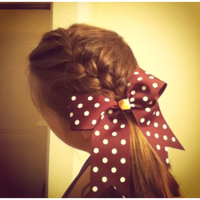 cheer hair styles