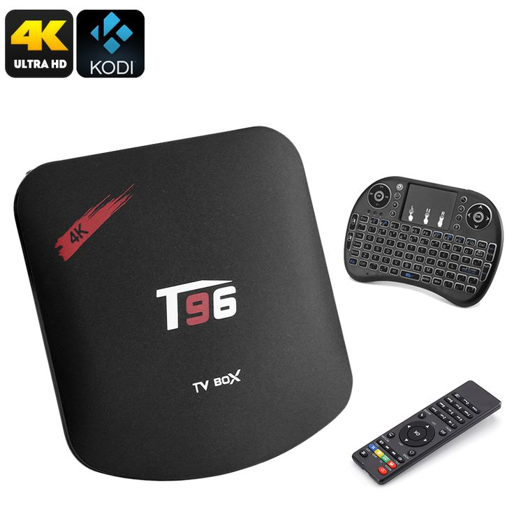 T95 TV Box And Wireless Keyboard - 92Key Querty Kbrd, 4K x 2K, Quad Core CPU, Kodi 16.1, DLNA - T95 TV Box and Air Mouse is a one click bundle that will turn any TV in the home entertainment center with movies, games and sports served up in 4K resolutions