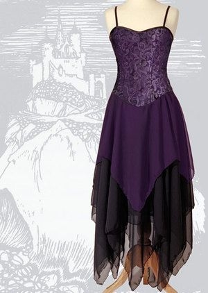 418 - Gothic Faery Dress - Gothic, romantic, steampunk clothing from The Dark Angel