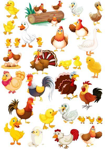 Клипарт Домашние птицы