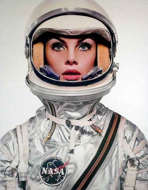 Jean Shrimpton as an astronaut by Richard Avedon for Harpers Bazaar