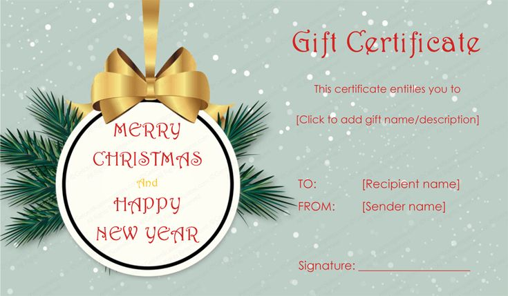 Gift Certificate Templates gift certificates Pinterest Gift - christmas gift certificates templates