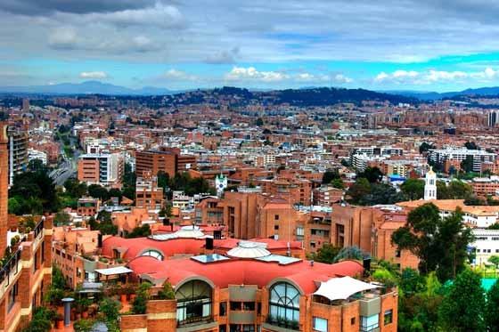 Panorama de Bogotá, una ciudad que no puede dejar de visitar.