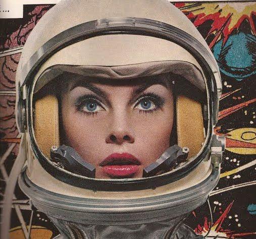 retro girl astronaut - photo #2