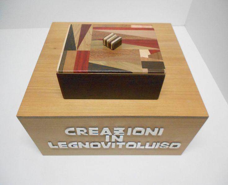 SCATOLA IN LEGNO RETTANGOLARE CON COPERCHIO  -2- di creazioniinlegnovitoluiso su DaWanda.com