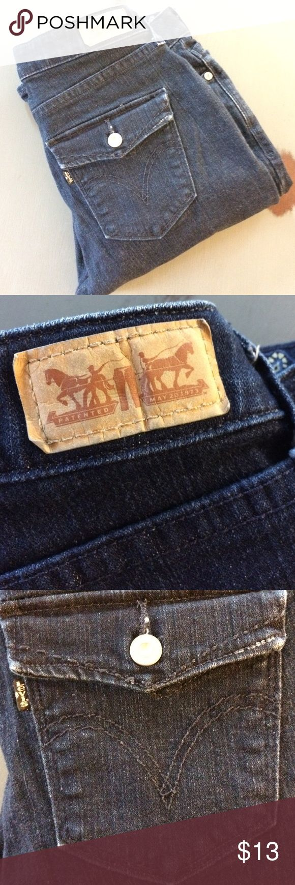 Levi's ladies size 4m jeans. Like new ladies size 4 jeans. Really nice dark blue wash. levis Jeans Straight Leg
