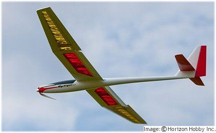 ...  called a motor glider or e-soarer, this aircraft type is essentially a standard glider design with a motor added.