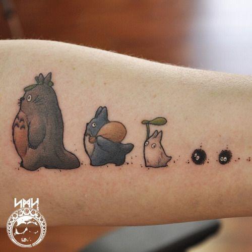 Best parade ever...Totoro piece on Jenny (at Hibernia Tattoo Studio) from Buzzfeed.com
