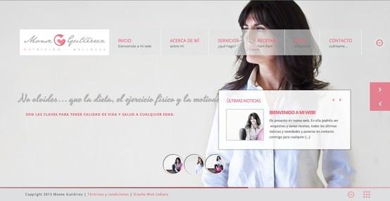 """Desde Indiproweb os presentamos nuestro nuevo trabajo de """"diseño web"""" realizado para la nutricionista leonesa """"Monse Gutierrez"""". www.monsegutierrez.com"""