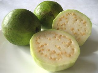 guava!!!! (jambu is its real name :P) and idk what sorta mutations all those pink guavas got to but this is the real shamizzle..