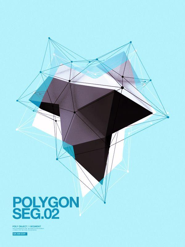Polygon on the Behance Network: Concept Art, Geometric Posters, Geometric Shape, Tattoo Art, Behance Network, Polygon Art, Geometry, Sci Fi Graphics Design, Inspiration Design