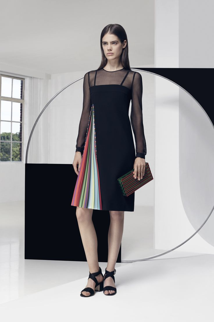 Look 8. Arapova Dress & Large Box Clutch