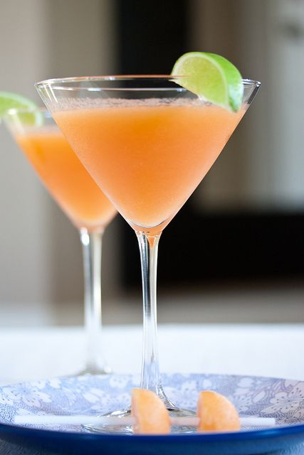 Cantaloupe Martini: Happy Hour, Cantaloupe Martini, Recipe, Food ...