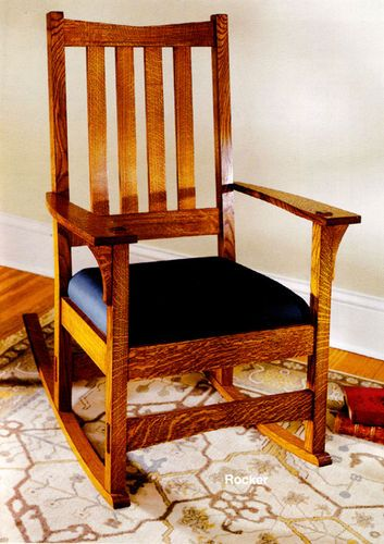 craftsman rocking chair woodworking plan woodworking projects plans. Black Bedroom Furniture Sets. Home Design Ideas